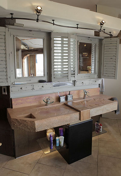 master bathroom sink & mirrors