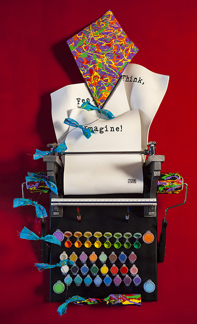 Think, Feel, Imagine - typewriter