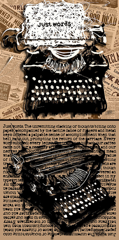 typewriter drizzles
